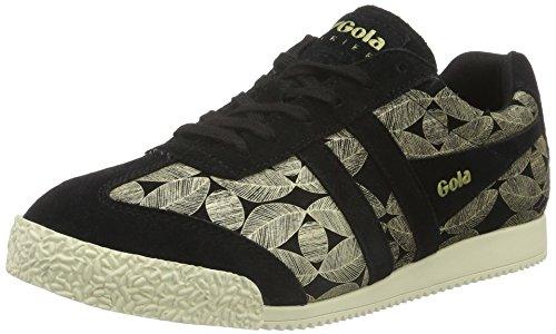 Harrier Leaf Basses Baskets Gola Femme Black Gold Schwarz dg5qn4nxw