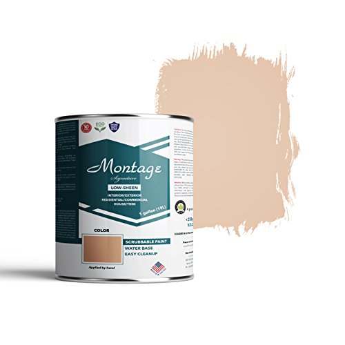 Montage Signature Interior/Exterior Eco-Friendly Paint, Desert Tan - Low Sheen, 1 Gallon