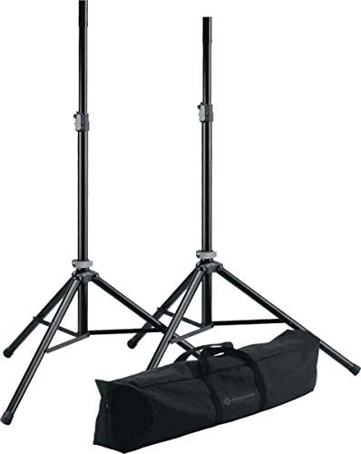 K M 21449-000-55 Speaker Stand Package w Carry Bag