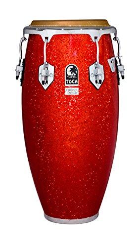 Toca 4611-3/4FR Custom Deluxe Fiberglass Conga - Red Sparkle