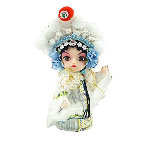 Ancient Chinese Bride Peking Opera Performers Mini Doll Beauty Artistic Home/desktop Decor Business/Birthday Gift-Legend of White snake (Chinese Collectible Doll)