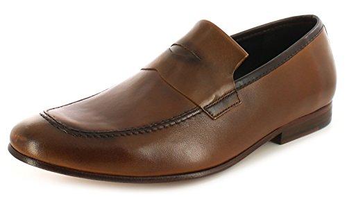 Hudson Homme Timo Calf glisser sur la chaussure en cuir brun