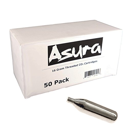 (Asura 16 Gram CO2 Threaded Cartridges 50 Count)