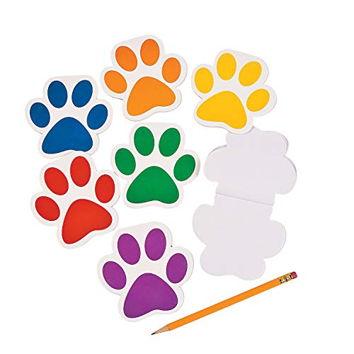Paw Print Notepads - 24 ct by Party Supplies -