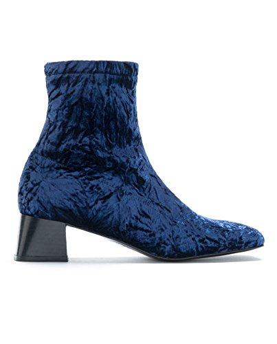 Bimba y Lola Femme Blue Velvet Ankle Boot 172BZ0656 (40 EU | 9 US | 7 UK)