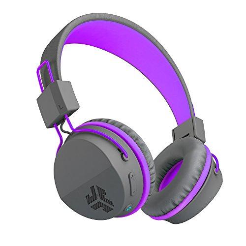 JLab Audio JBuddies Studio Bluetooth Wireless Folding Headphones – Gray / Purple – Kid Friendly 13 Hour Battery Life Bluetooth 4.1 Ages 6-16 Review