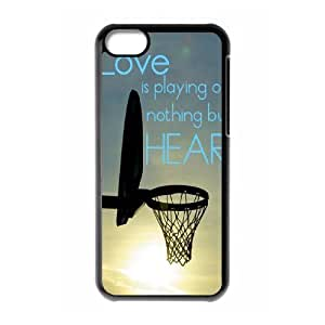 basketball is life Custom Cover Case with Hard Shell Protection for Iphone 5C Case lxa#287610