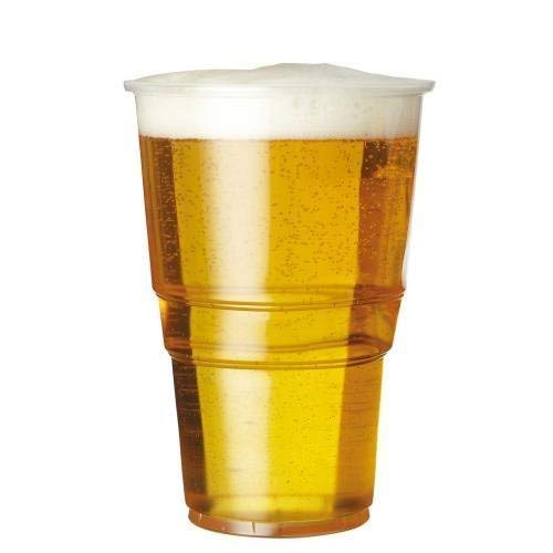 1000 x 20oz Full Pint to Brim Flexi Clear Plastic Cups with CE Markings We Can Source It Ltd Strong Disposable Beer Glasses Tumblers.