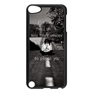 iPod Touch 5 Case Black quotes parallax sorry unhappy to please you OJ529071