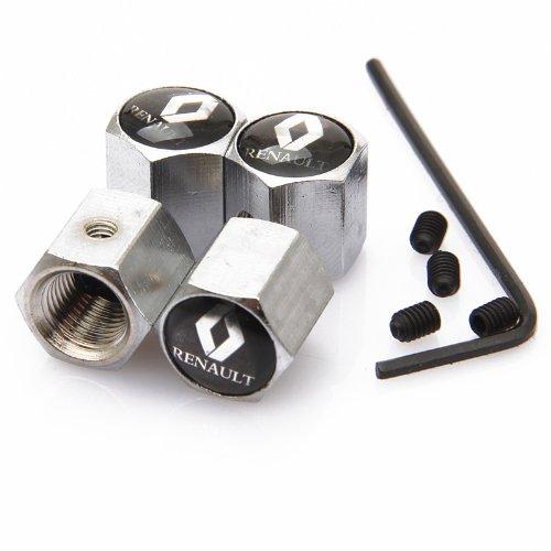 black-renault-anti-theft-chrome-car-wheel-tire-valve-stem-caps