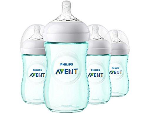 Philips Avent Natural Baby Bottle, Teal, 9oz, 4pk, SCF013/44