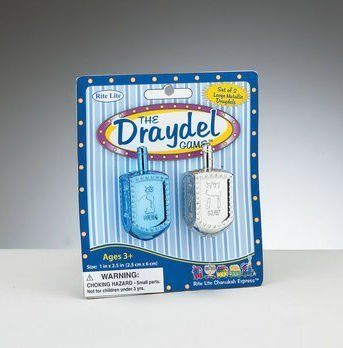 Rite Lite DRP-5-CR The Draydel Game - 2 Large Metallic Draydels, Blue-Silver