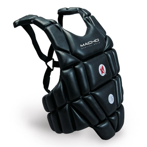 Macho Sports / Martial Arts Chest Protector - Black - Medium ()