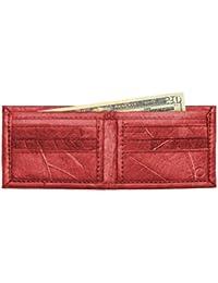 Leaf Leather Bifold Mens Wallet - Color Options, Handmade, Billfold Flip Design