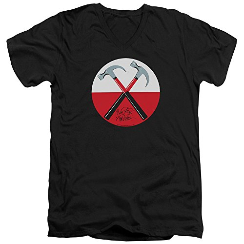 Pink Floyd- Hammers Button V- Neck T-Shirt Size M