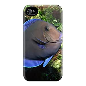 Phone Case Perfect Tpu Case For Iphone 4/4s/ Anti-scratch Protector Case (ocean Life Tropical Fish)