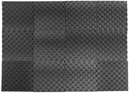 12 Pack Acoustic Studio Foam Sound Absorbing Foam Panels 50x50x5cm