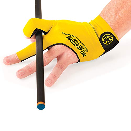 Predator Second Skin Billiard Glove Yellow: Fits Left Bridge Hand (Large/XL)