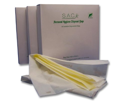 S.A.C. Adult Diaper Disposable Bags 50-Count, Set of 3