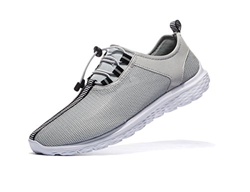 VSDANLIN Men s Sports Running Shoes Lightweight Athletic Breathable Mesh Anti-Slip Leisure Walking Sneakers (US8.5/42EU Men, Grey)