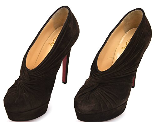 sale pay with visa Christian Louboutin Woman Decolte' Shoes Black Brown Suede Code 3101725 37 Marrone supply for sale cheap USA stockist KCYMRF
