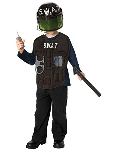 S.W.A.T. Officer Child Costume Kit, Fits Sizes 4-8, - Dresses Online Lf