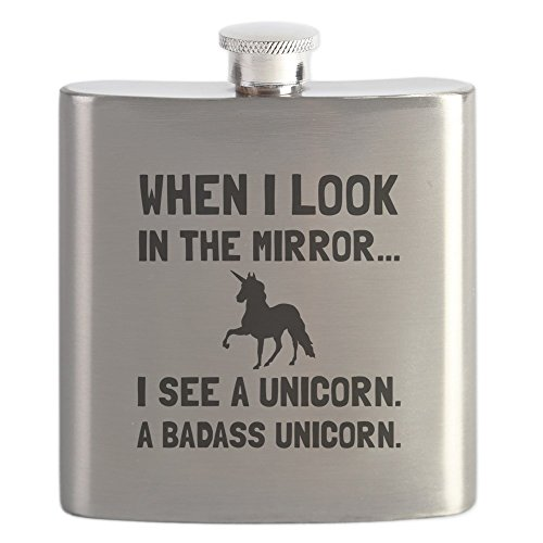 CafePress Badass Unicorn Stainless Drinking