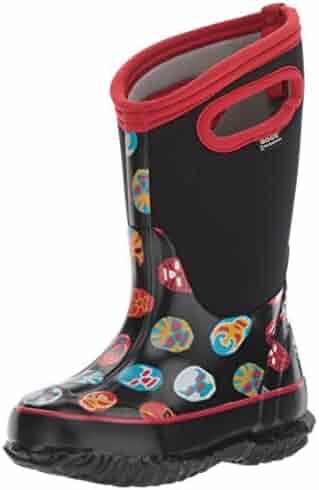 Bogs Kid's Classic High Waterproof Insulated Rubber Neoprene Rain Boot Snow, Mask Print/Black/Multi, 9 M US Toddler