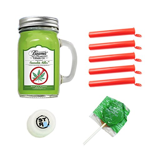 12oz Cannabis Killer (Removes Weed Smell) Lightly Scented Beamer Candle Co. Ultra Premium Jar Candle. 90 Hr Burn Time. USA Made (12 oz Jar + 5 tubes + Silicone Jar ()