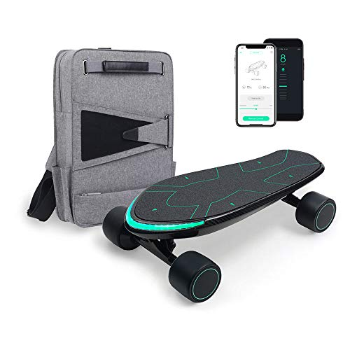 WALNUTT SPECTRA Pro Electric Skateboard with 3D Posture Control Dual Hub Motors Boosted Board Carbon Fiber Deck Smart MagBreak Bluetooth Connectivity Top Speed 15.5 mph Range 12.4 miles Reddot Awarded