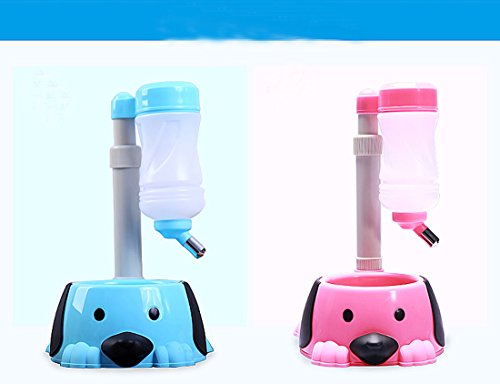 1pcs-Free-Standing-Dog-Cat-Water-Bottle-Bowl-Stable-with-Enclosed-Water-Weight-Holder-Height-Adjustable-two-function-top-quality