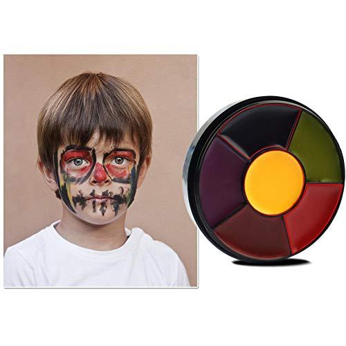 Leegoal Face Paint Set for Kids, Professional Palette 6 Colour Kit, Best Face Painting Party Kits for Children, Cosplay Body Paints Set -