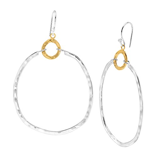 Silpada 'Dynamic Duo' Double Circle Drop Earrings in Sterling Silver & Brass from Silpada
