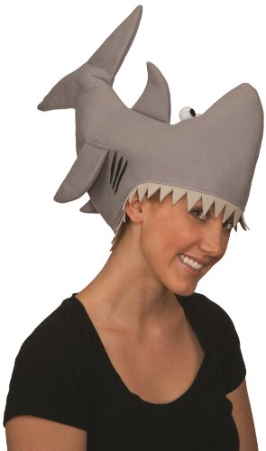 Halloween Hats - Jacobson Hat Company Grey Shark Hat, Grey, Medium