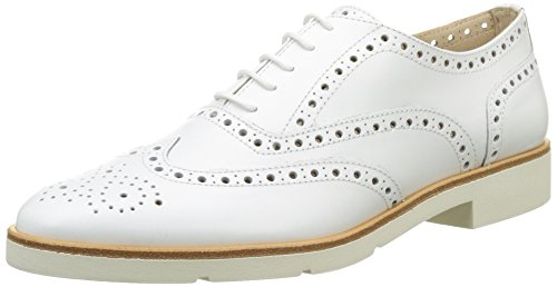 Jb Martin 1falba, Zapatos de Cordones Oxford para Mujer Blanc (Veau Bali White)