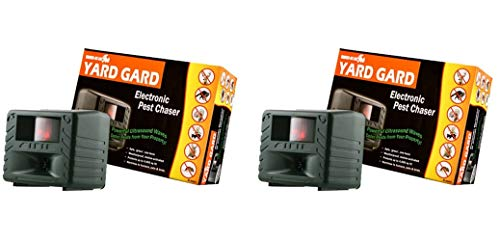Bird-X Yard Gard Electronic Animal Repeller Keeps unwanted pests Out Your Yard ultrasonic Sound-Waves (Pack of 2) -