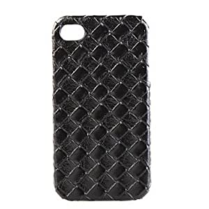 Protective Hard Case for iPhone4 with Leather on Double Sides(Random Color)