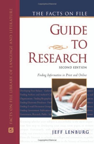 The Facts on File Guide to Research, 2nd Edition (Facts on File Library of Language and Literature)