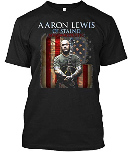 of Staind Date Tour 2017 Aaron Lewis Miawm Mm Two 8 Tee|T-Shirt Black