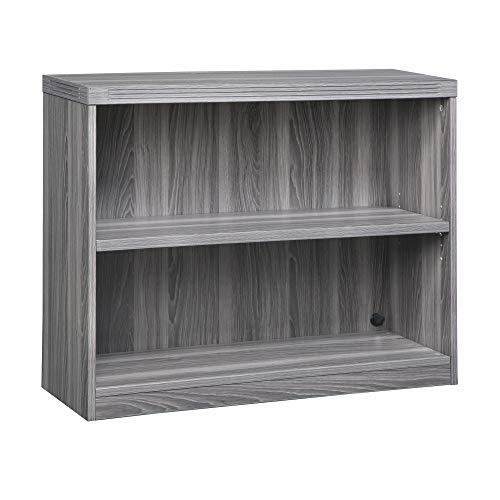 Mayline AB2S36LGS Aberdeen Bookcase, 2 Shelf, Gray Steel Tf - Safco Steel Bookcase
