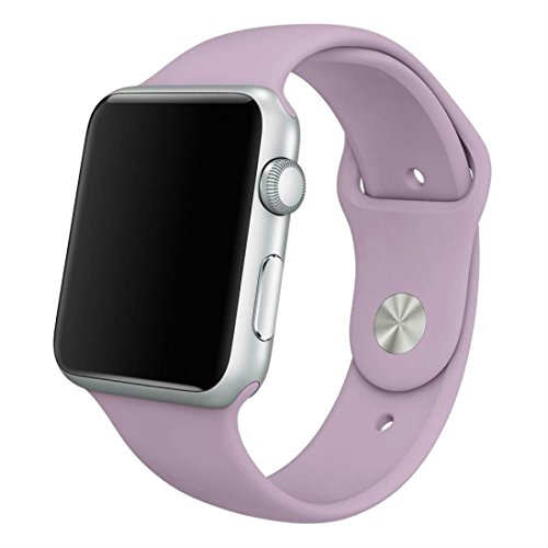 Sport Band for Apple Watch 38mm, Aimote Soft Silicone Replacement Strap for iWatch Nike+ Series 1 Series 2 ,(Small/Medium Size),38mm Lavender