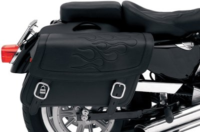 Saddlemen X021-05-0401 Black Flame Medium Highwayman Tattoo Saddlebag