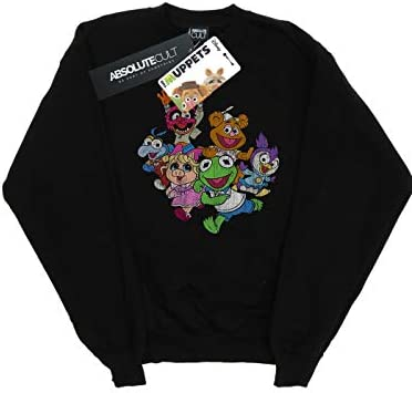 Disney Herren The Muppets Muppet Babies Colour Group Sweatshirt Schwarz Small