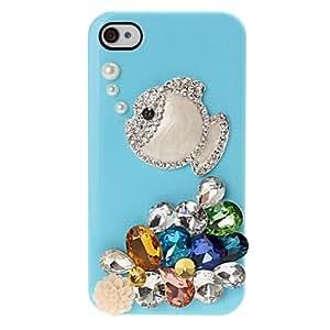 conseguir Pescados y colorida caja de plástico del modelo del diamante para el iPhone 4 4S