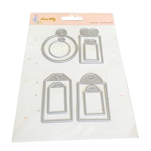 UIFIDI Happy Easter Letter Cutting Dies Metal Stencil Template for DIY]()