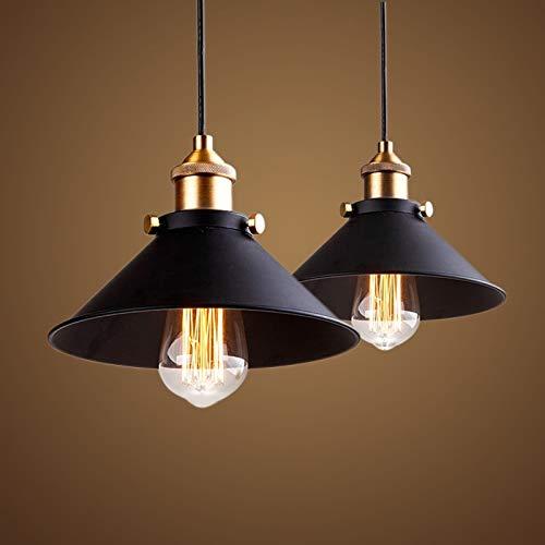 Lannmart Black Vintage Industrial Pendant Light Nordic Retro Lights Iron lampshade loft Edison lamp Metal cage Dining Room Countryside