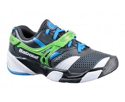Babolat - Zapatillas de tenis de genérico para niña Gris/Vert 37