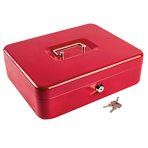 (Kyodoled Metal Cash Box with Money Tray and Lock,Money Box with Cash Tray,Cash Drawer,11.81