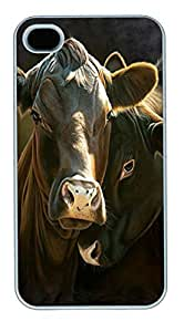 IPhone 4S Cases In The Mood Cow Polycarbonate Hard Case Back Cover for iPhone 4/4S White