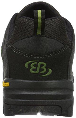 Bruetting CANADA LOW - Zapatos de Low Rise Senderismo Hombre Negro (ANTHRAZIT/GRUEN)